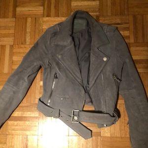 Blank NYC Suede Jacket Light Grey